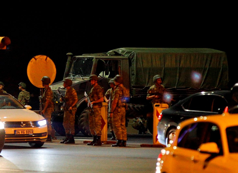 Turkish soldiers are seen on the Asian side of Istanbul. Photo: AP Photo/Emrah Gurel