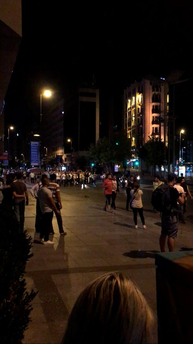 Scenes in Istanbul, Turkey as coup unfolded. Picture: Judy Fitzgerald