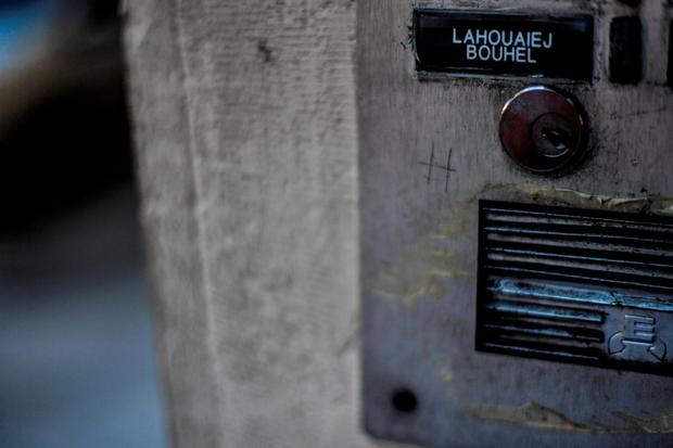 The name of Mohamed Lahouaiej Bouhlel is seen on the intercom of his apartment building in Nice, France. The French-Tunisian attacker killed 84 people as he drove a lorry through crowds, gathered to watch a firework display during Bastille Day Celebrations. The attacker then opened fire on people in the crowd before being shot dead by police. Photo by David Ramos/Getty Images