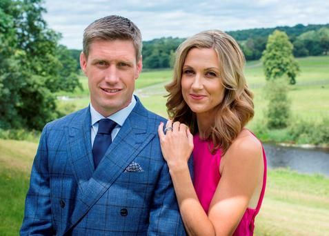 Ronan O'Gara and his wife Jessica. Photo: Kip Carroll