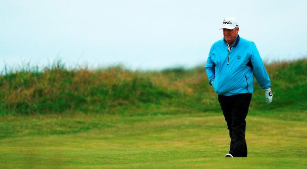 Winner of The Open at Royal Troon in 1989 Mark Calcavecchia couldn't emulate his former glories as the weather played havoc with the players' best-laid plans over the past three days. Photo: Getty Images