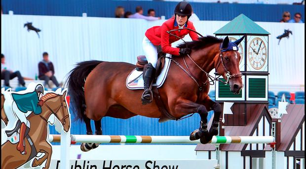 RIDING HIGH: Jessica Springsteen, daughter of Bruce, will compete in the Dublin Horse Show. Photo: Steve Humphreys