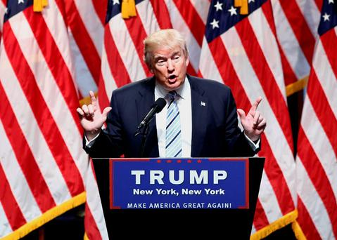US Republican presidential nominee Donald Trump speaks in New York during a press conference. AFP/Getty Images
