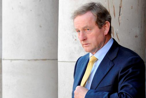 HANGING IN THERE: Taoiseach Enda Kenny. Photo by Clodagh Kilcoyne/Getty Images