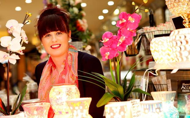 More bang for your buck: Roisin Rooney of The Flower Barrow in The Quays shopping mall in Newry. Picture; Gerry Mooney