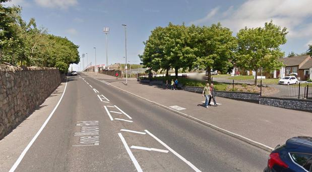 The Lone Moor road close to where the incident happened