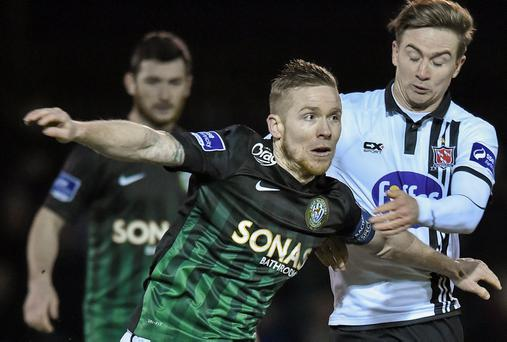 Bray skipper Conor Kenna was delighted in every respect at the Carlisle Grounds on Saturday night. Picture credit: Matt Browne / SPORTSFILE