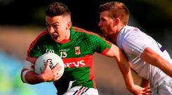 Newcomer Evan Regan looks a valuable addition to the Mayo attack. Photo by Stephen McCarthy/Sportsfile