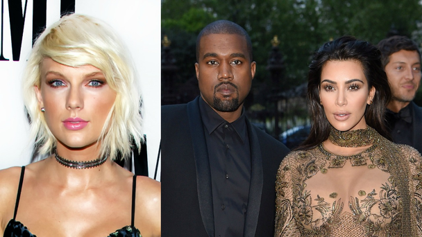 Taylor Swift, Kanye West and Kim Kardashian