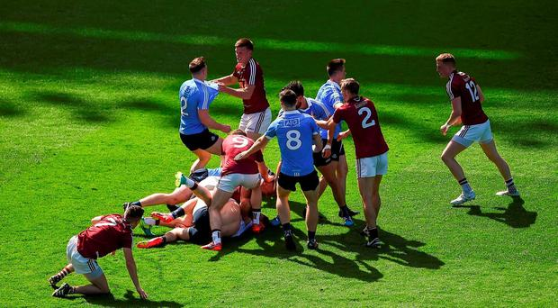 Dublin in action against Westmeath