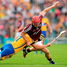 Galway's Joe Canning in action against Clare during the 2013 All-Ireland quarter-final. The two teams meet again at the same stage on Sunday. Photo: Stephen McCarthy/Sportfile