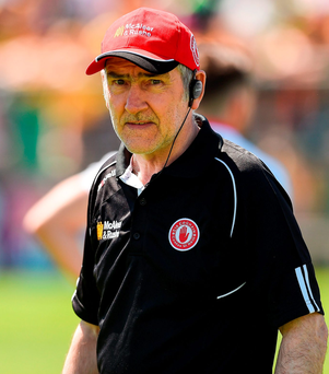 Tyrone manager Mickey Harte Photo: Philip Fitzpatrick/Sportsfile