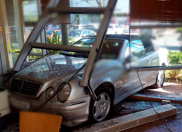 'It is not known how the car ended up inside the cafe, but the incident is being treated as an accident'