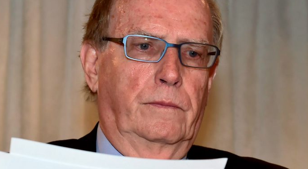 Canadian law professor Richard McLaren at yesterday's press conference Photo: Frank Gunn/The Canadian Press via AP