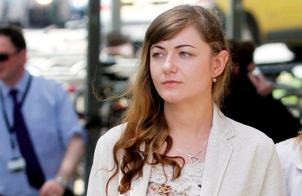 Marta Herda (29), arrives at the Central Criminal Court in Dublin. Pic Collins Courts