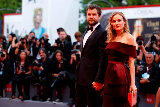 Joshua Jackson and Diane Kruger attend a premiere for 'Black Mass' during the 72nd Venice Film Festival on September 4, 2015 in Venice, Italy. (Photo by Tristan Fewings/Getty Images)