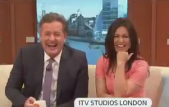 Piers Morgan and Susanna Reid on Good Morning Britain. Photo: Twitter.