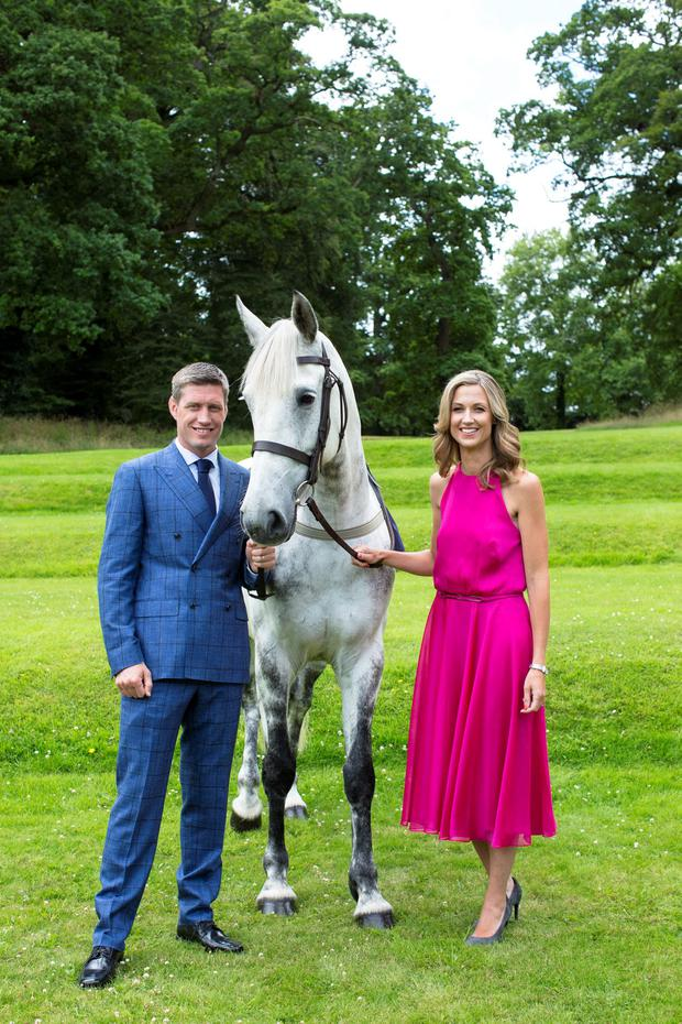 Ronan and Jessica O'Gara promoting the Irish Longines Championship Weekend