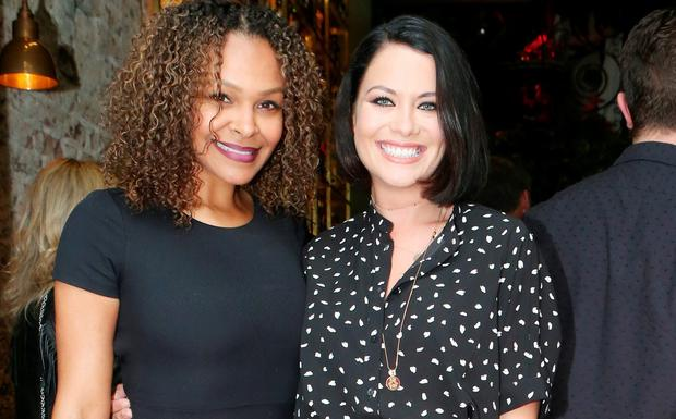 Samantha Mumba and Michele McGrath attend the official launch Farrier & Draper at Powerscourt Townhouse, South William Street, Dublin 2