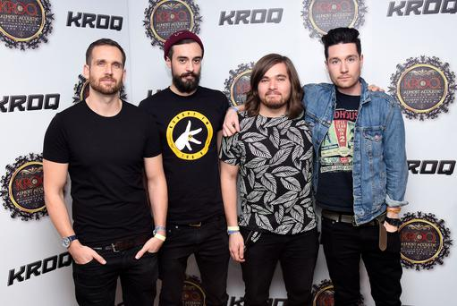 (L-R) Musicians Will Farquarson, Kyle J Simmons, Chris 'Woody' Wood and Dan Smith (Photo by C Flanigan/FilmMagic)