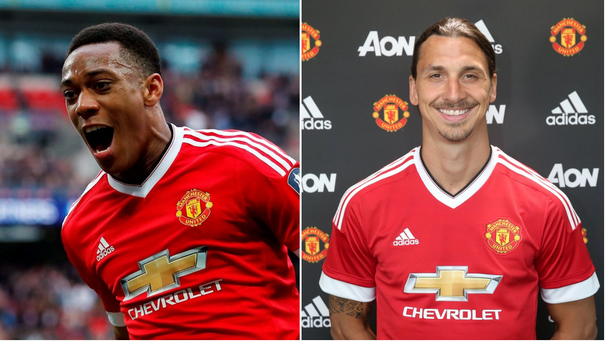 Anthony Martial and Zlatan Ibrahimović