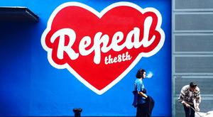 Repeal the 8th mural at Temple Bar Photo:HunReal Facebook