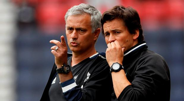 Manchester United manager Jose Mourinho and assistant coach Rui Faria Action Images via Reuters / Lee Smith