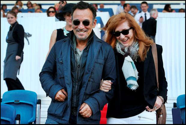 Bruce Springsteen and Patti Scialfa at the event in 2014 Picture: Steve Humphreys