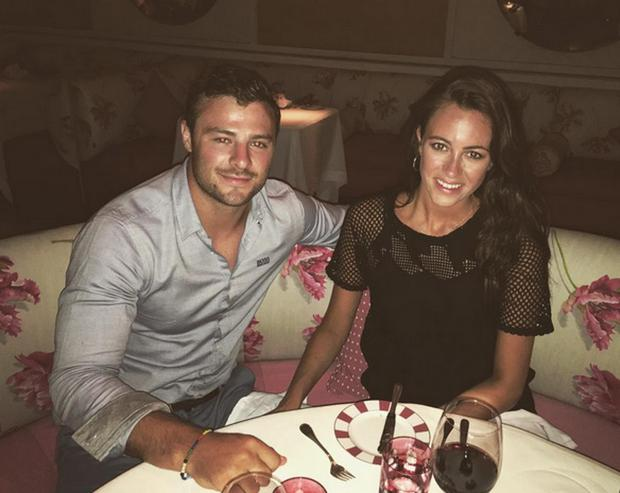 Robbie Henshaw and girlfriend Sophie Marren in Barbados