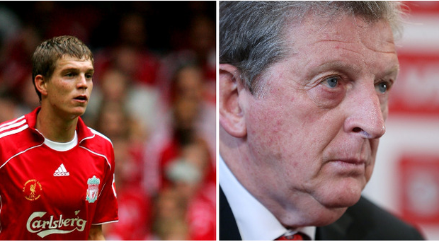 Daniel Agger and Roy Hodgson