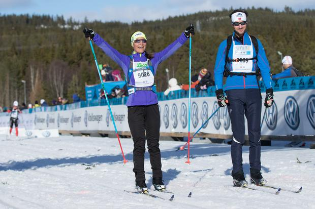 Pippa Middleton and fiancé James Matthews attends Birkenbeinerrennet ski race with fiancé James Matthews on March 19, 2016 in Lillehammer, Norway. (Photo by Ragnar Singsaas/Getty Images)