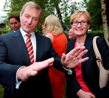 Mairead McGuinness with Taoiseach Enda Kenny: she urged that he be given time to negotiate in the post-Brexit scenario Photo: Frank Mc Grath