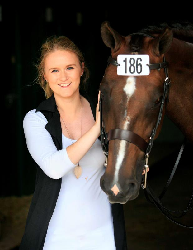 Victoria O Connor from Malahide with horse Madame Stella Photo: Gareth Chaney Collins