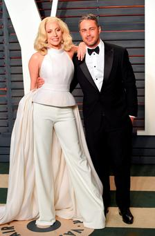 Lady Gaga and her actor fiance Taylor Kinney Photo: PA Wire/PA Wire