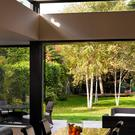 Twice as nice: Joint effort - Combining large sliding doors and overhead windows doubles the effort of catching all the light.