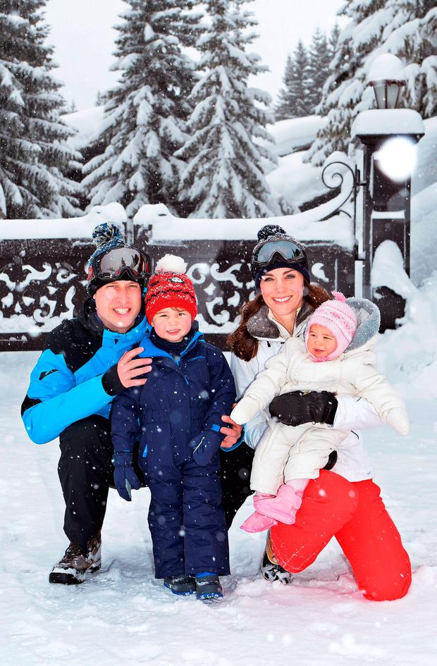 The family's first ski holiday