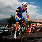 Dan Martin in action during yesterday's stage the Tour de France from Sallanches to Megeve. Photo: Michael Steele/Getty Images