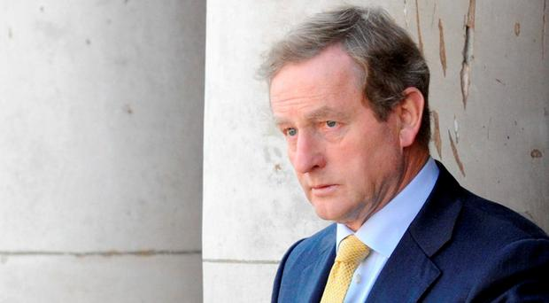 Taoiseach Enda Kenny: Why poison the well of goodwill needed with unionists and the British government by bringing up a border poll? Picture: Clodagh Kilcoyne
