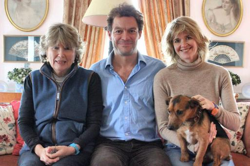 Dominic West with his wife Catherine Fitzgerald, right, and his mother-in-law Olda Willes Fitzgerald. Photo: Jessica Leen