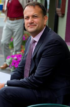 Social Protection Minister Leo Varadkar relaxing in the sunshine at the MacGill Summer School in Glenties Photo: North West Newspix