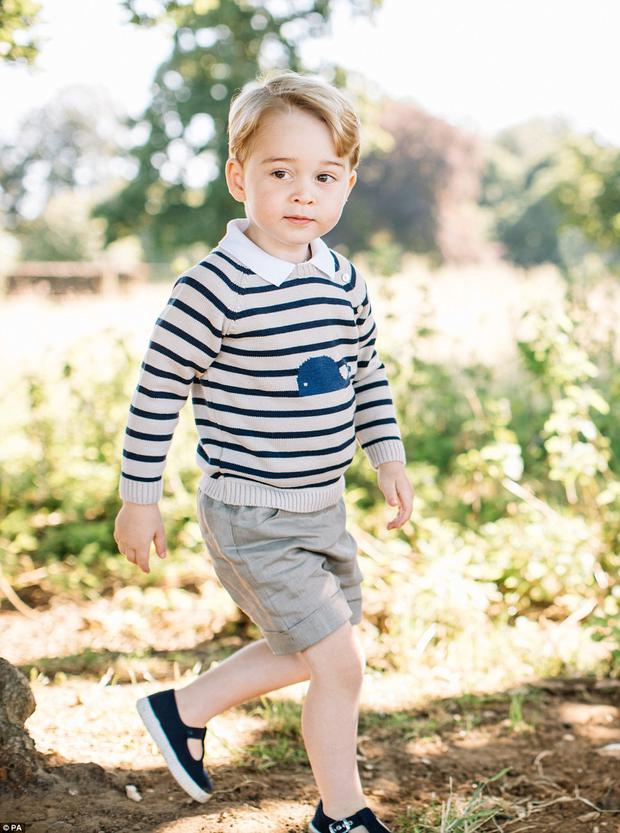 Prince George roams the gardens of Amner Hall. Photo: Matt Porteous / PA