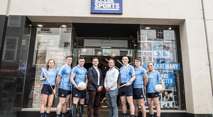 Tomas Quinn, commercial and marketing director of Dublin GAA (left) Mark Stafford, chief executive of Life Style Sports.