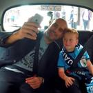 Pep Guardiola with Braydon Bent