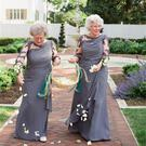 Maggie and Josh's grandmothers acted as flower girls at their wedding Photo Credit: Ashley Elizabeth Photography