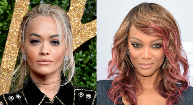 Rita Ora (left) has replaced Tyra Banks (right) as judge of America's Next Top Model.