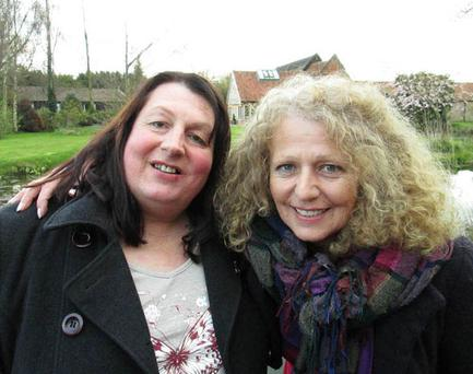 Debbie pictured with Vanda after they were reunited. Photo Credit: ITV