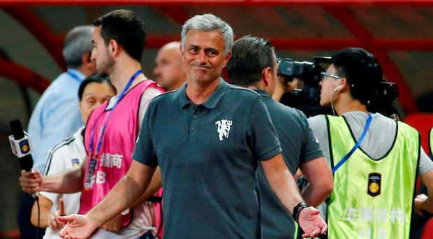Manchester United manager Jose Mourinho looks dejected after defeat Action Images via Reuters / Thomas Peter
