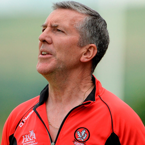 'At the start of the year, Barton (p) was handed an eight-week touchline ban after getting tangled in a spat during Derry's defeat to Tyrone in the Dr McKenna Cup final.' Photo: Sportsfile
