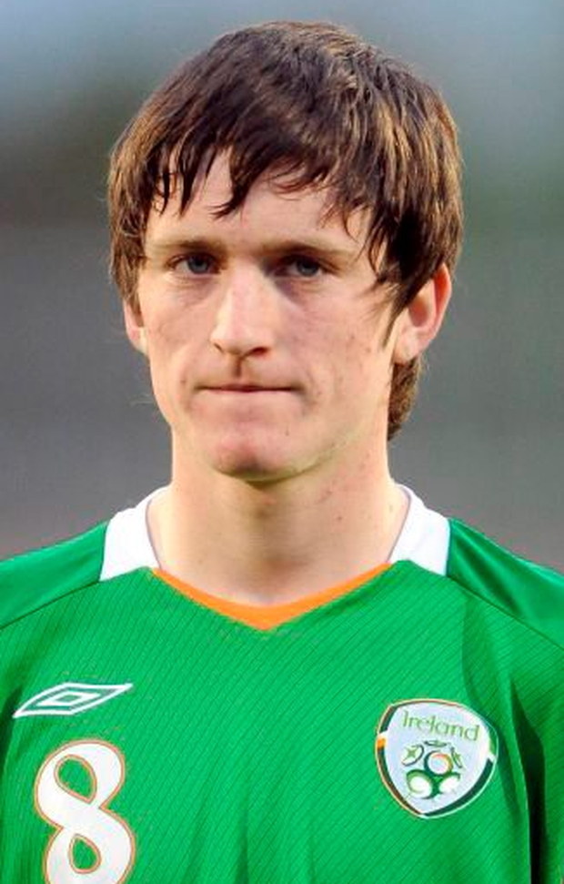 Craig Walsh in his Ireland jersey before an U-17 international against Poland in 2009 Photo: Brendan Moran / SPORTSFILE