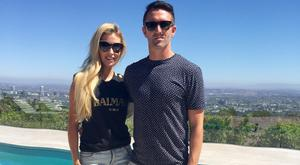 Claudine and Robbie Keane at their new home in Beverly Hills